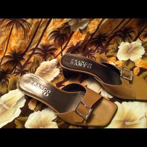 Franco Sarto Tan Wedge Heel