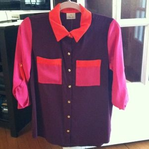 Color block shirt