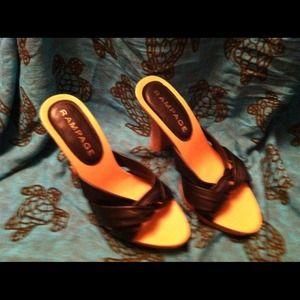 Rampage Black & Cork Heels