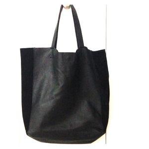 Black leather bag (ZARA)