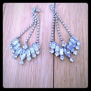 Charming Charlie Jewelry - Rhinestone Chandelier Earrings