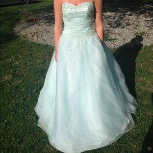 ✨RESERVED✨ Light Blue Prom Dress