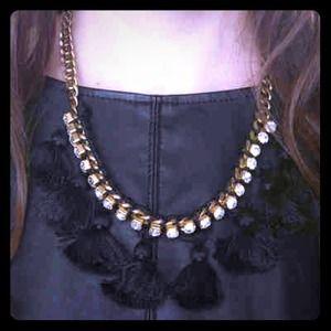 E.Kammeyer Accessories Jewelry - 🎉2X HP🎉 Bold Black Pom Pom Statement Necklace