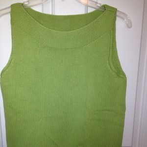 Tops - Cute Sleeveless Green Top - Worn once - Size Small