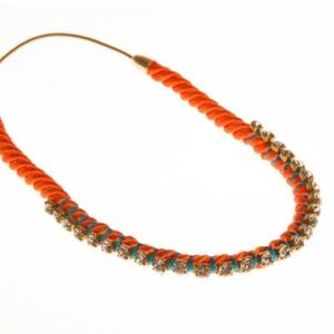 E.Kammeyer Accessories Jewelry - Pop orange crystal wrapped necklace/headband