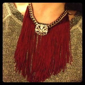 E.Kammeyer Accessories Jewelry - 🎉3X HP🎉Swarovski &fringe glam statement necklace