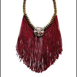 🎉3X HP🎉Swarovski &fringe glam statement necklace