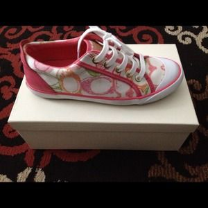 Colorful coach shoes