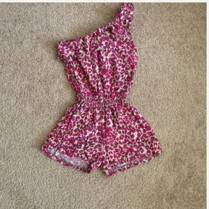 Bundled Pink animal print romper