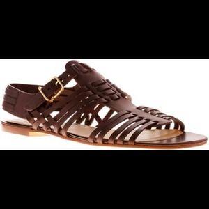 NEW Jcrew Malta sandals -dark brown
