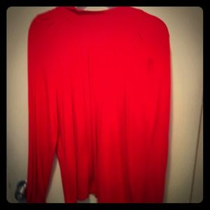 BNWOT Michael Kors Red Pleated Front Top
