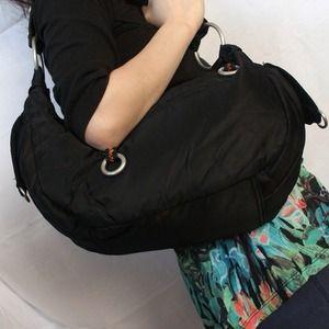 ⚡Reduced⚡Black nylon handbag