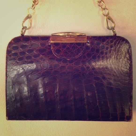 Vintage Bags   1940s Crocodile Deitsch Purse   Poshmark 43358a0b6c