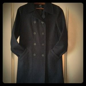 Women's Gap recycled wool pea coat