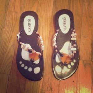 Beaded Italian sandals