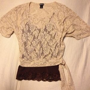 wet seal Tops - Cute Lacy Top With Side Tie