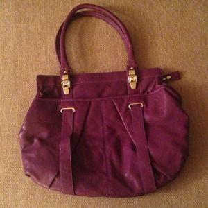 Melie Bianco purple handbag