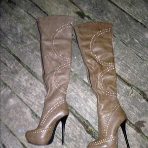Boots - Over the Knee Spiked Boots