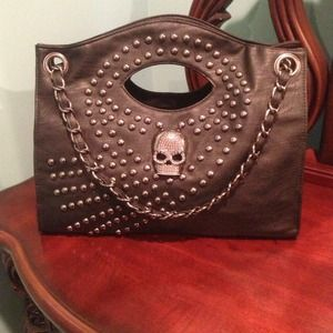 HOST PICK Studded black skull bag