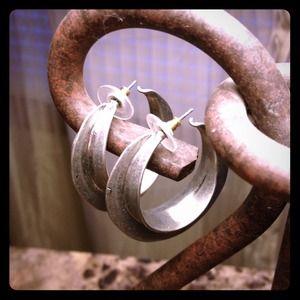 H&M chunky metal earrings
