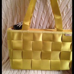 Seatbelt Style Handbag Yellow