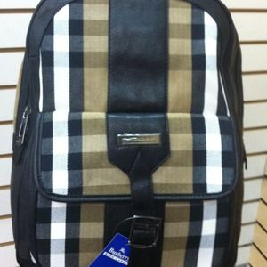 Burberry Handbags - Leather/Canvas backpack