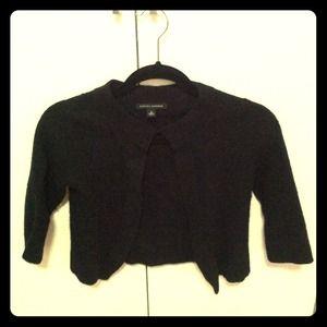 Banana Republic black crop sweater