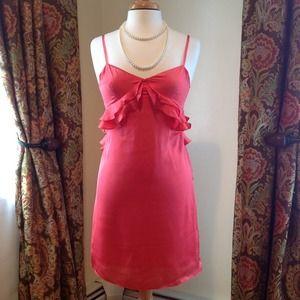 Maude-Pretty Coral Ruffled Dress MINT Condition!