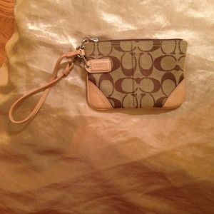 Authentic Coach Legacy Signature Small Wristlet