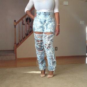 Denim - My new shredded jeans courtesy of Ms. Harris!!!