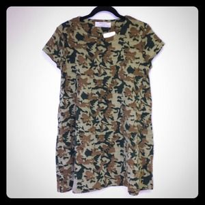 Zara Army Camoflauge sweater dress