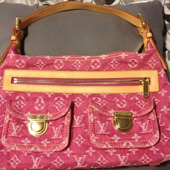 Louis Vuitton Bags 100 Authentic Pink Denim Handbag