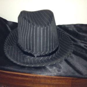 Beautiful pinstriped fedora hat! REDUCED