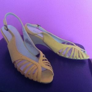 ***REDUCED***Yellow sling backs
