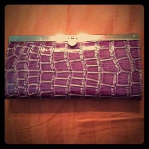 Snakeskin mini clutch wallet