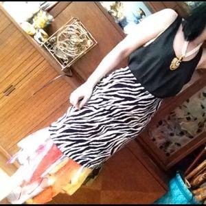 Dresses & Skirts - Etsy zebra and tissue hem pencil skirt