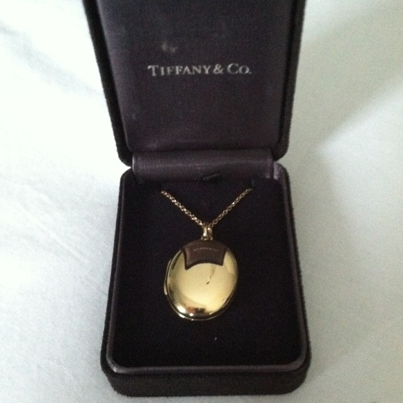 Tiffany co jewelry 14k tiffany locket with 18k gold 18 chain 14k tiffany locket with 18k gold 18 chain aloadofball Images