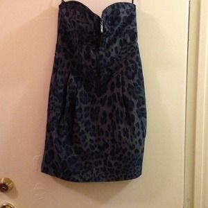 Denim like animal print dressreduce 