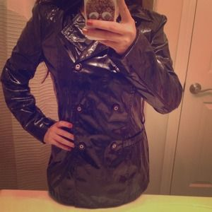 NEW Black Raincoat