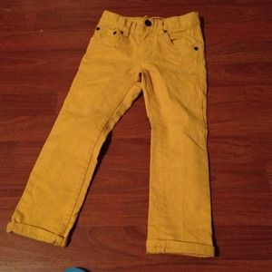 Gold Levi's skinny jeans