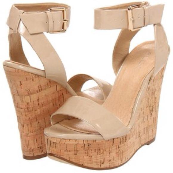 6ae24eb36324 ALDO wedge sandals tan beige