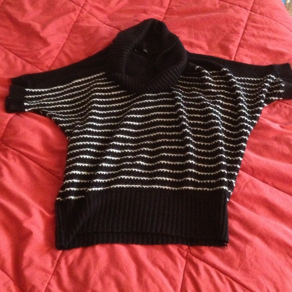Maurices Sweaters - Black And White Striped Sweater