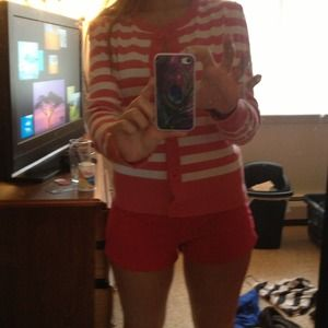 Pink an white striped sweater