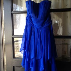 38% off David&-39-s Bridal Dresses &amp- Skirts - Horizon Blue Bridesmaid ...