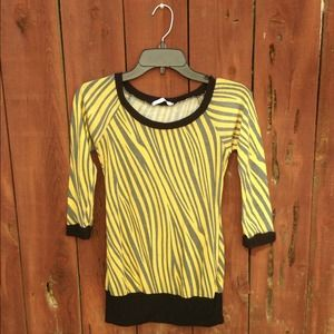 Yellow Zebra Top 