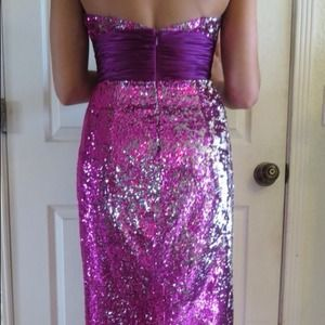 Long sequin dress!