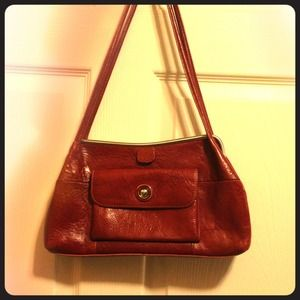 $5- Red Wilson's Leather Purse