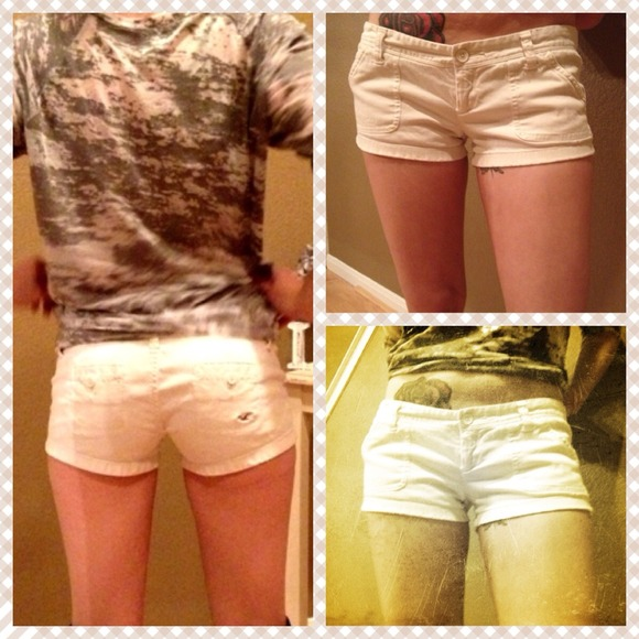 df1081a53 Hollister Other | Low Rise White Short Shorts | Poshmark