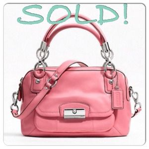 Coach Kristin Leather Double Zip Satchel, Rose