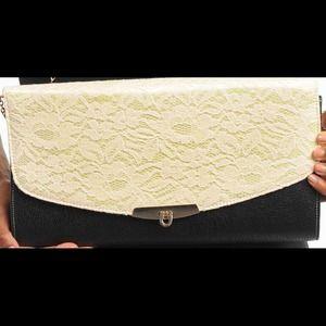 Handbags - **BRAND NEW** Clutch/bag black & white flower lace